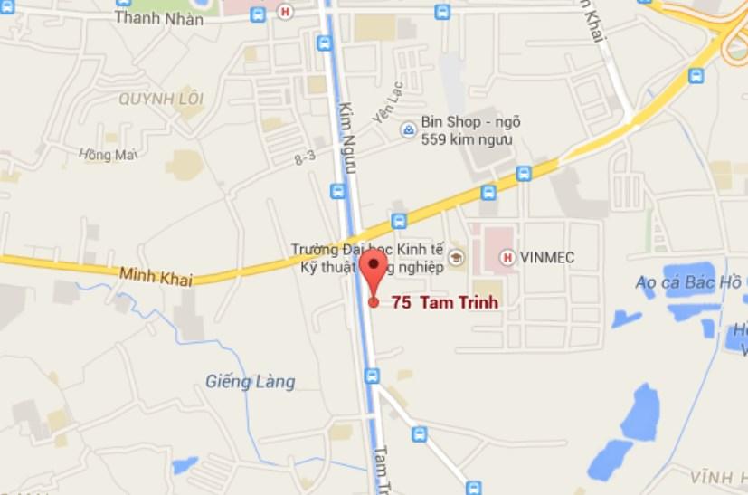 Vị trí Helios Tower 75 Tam Trinh