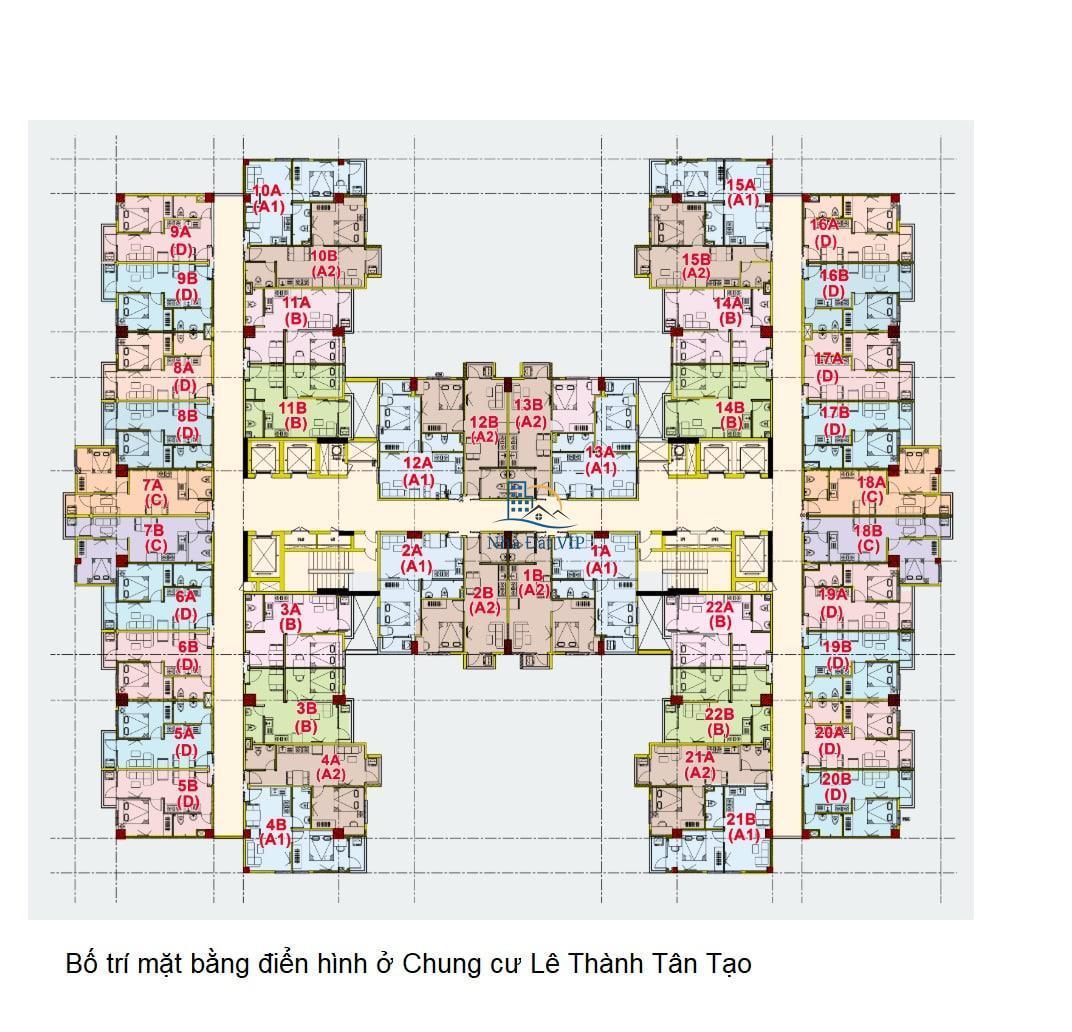 03-Bố trí Căn hộ điển hình Chung cư Lê Thành Tân Tạo