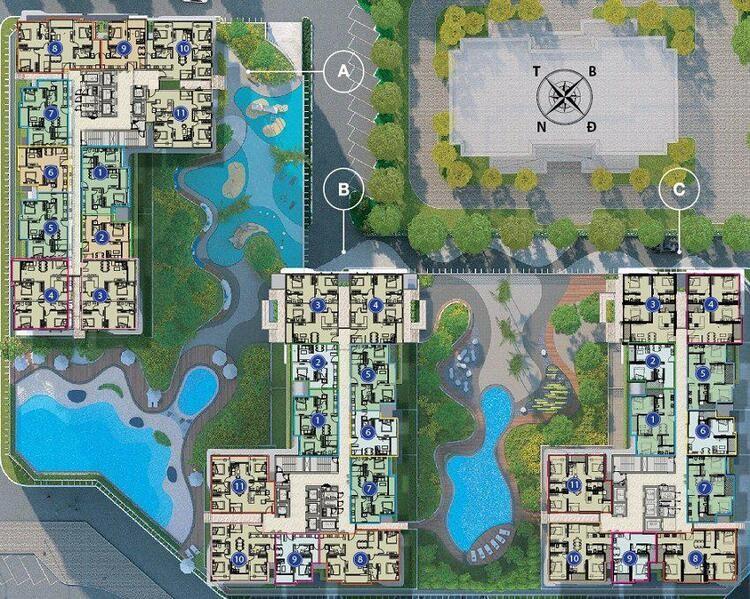 09-Mặt bằng tổng thể chung cư the zen residence