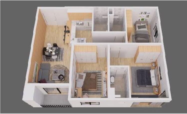 11-4 thiết kế căn 3 phòng ngủ chung cư the zen residence