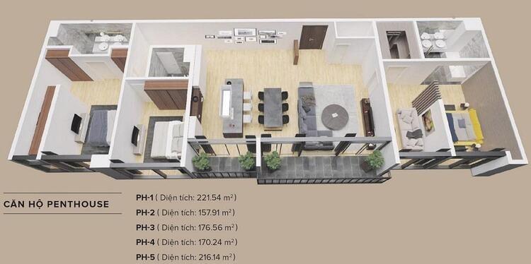 11-6 thiết kế căn penthouse the zen residence