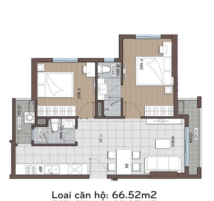 Căn hộ conic riverside 66 m2