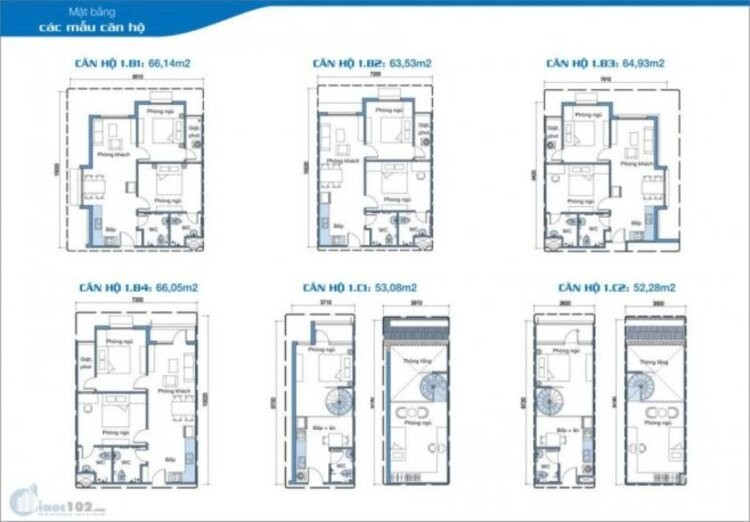 Mẫu căn hộ Ehome 2