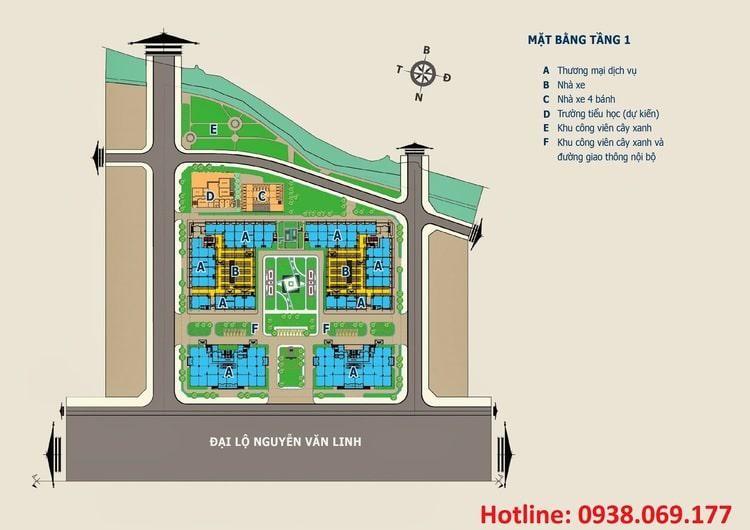 Quy hoạch mặt bằng HQC Plaza