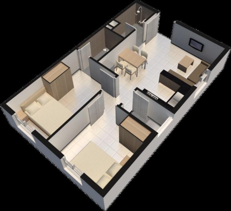 Thiết kế căn hộ chung cư Thạnh Lộc q12